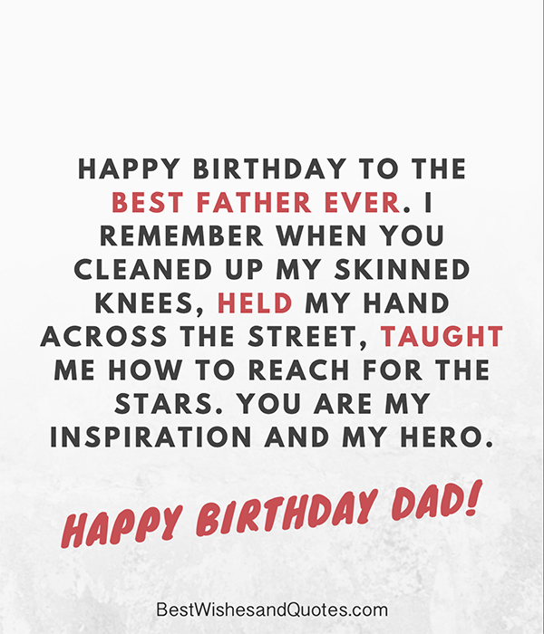 best birthday message for dad