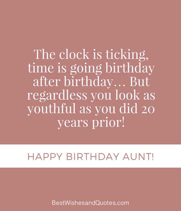 Happy Birthday Aunt - 35 Lovely Birthday Wishes that You Can