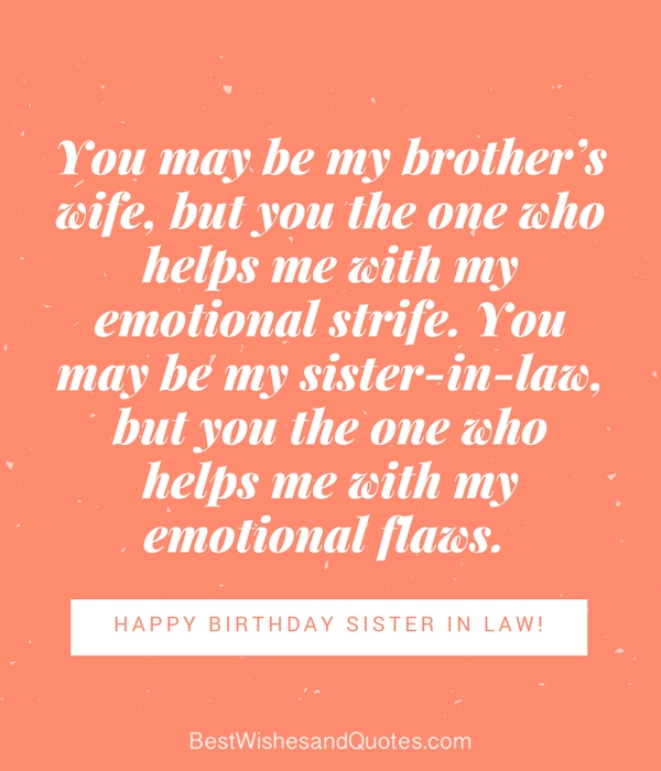 Not Everyone Can Be Blessed With A Sister But You Have In Law That Love More Than True