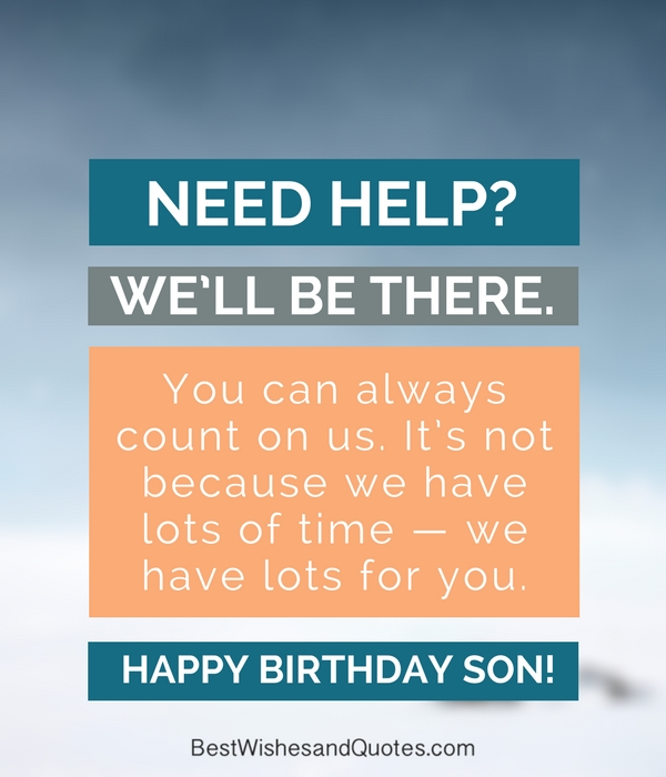 happy birthday son quote
