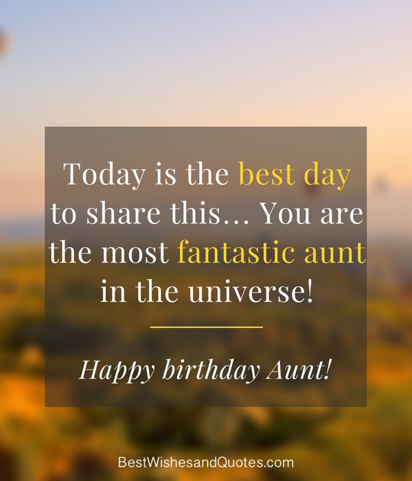Happy Birthday Aunt 35 Lovely Birthday Wishes That You Can Use
