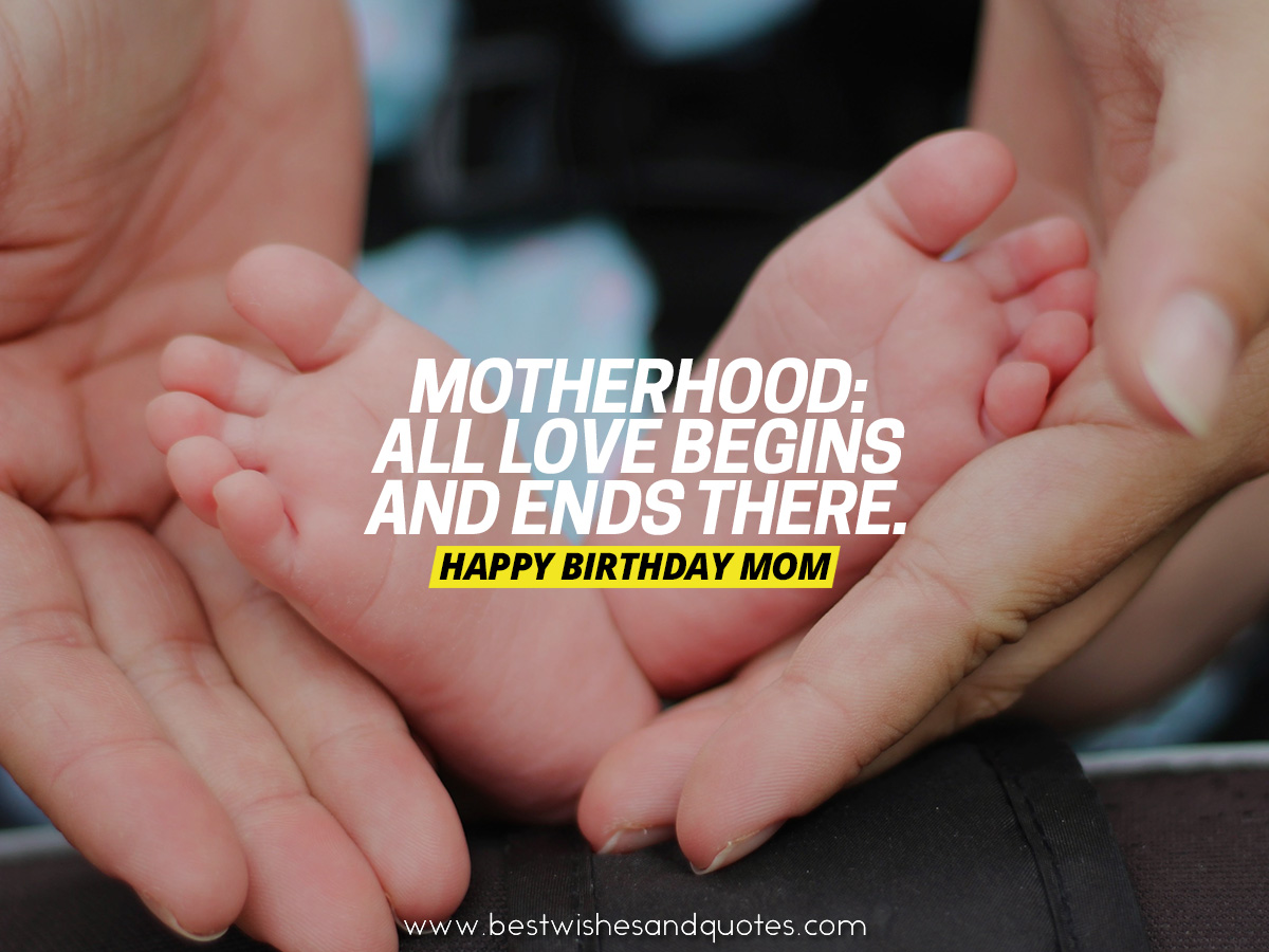happy birthday quote for mom