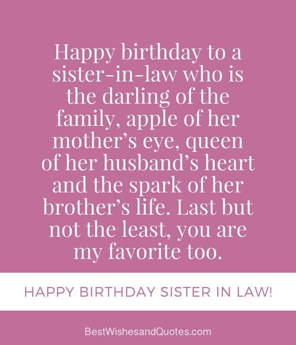 Happy Birthday Sister in Law - 30 Unique and Special Birthday Messages