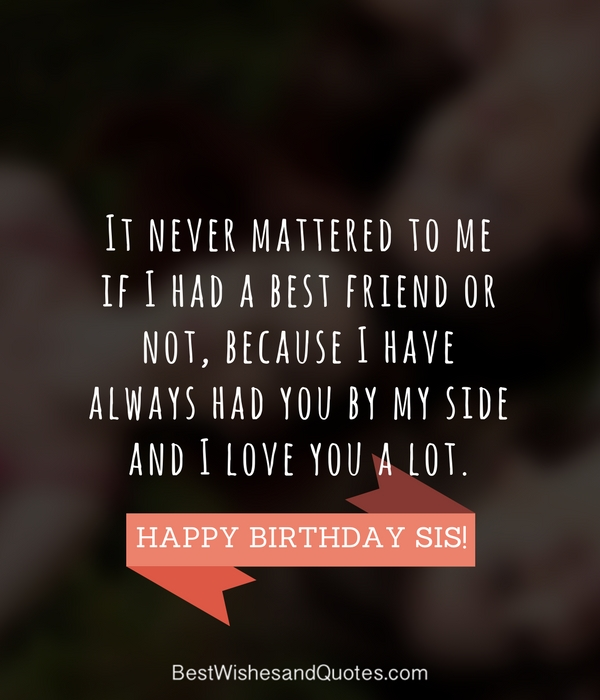 happy birthday message for sister