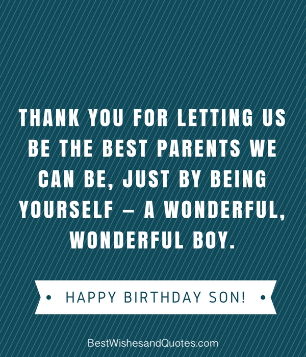 best wishes happy birthday son