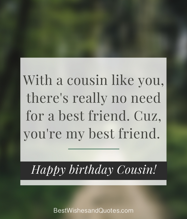 Happy Birthday Cousin - 35 Ways To Wish Your Cousin A -2085