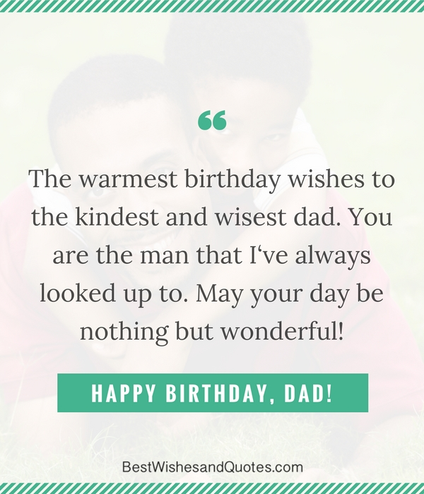 to dad on his birthday