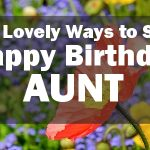 happy birthday to my aunt