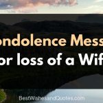 condolence messages for loss of wife