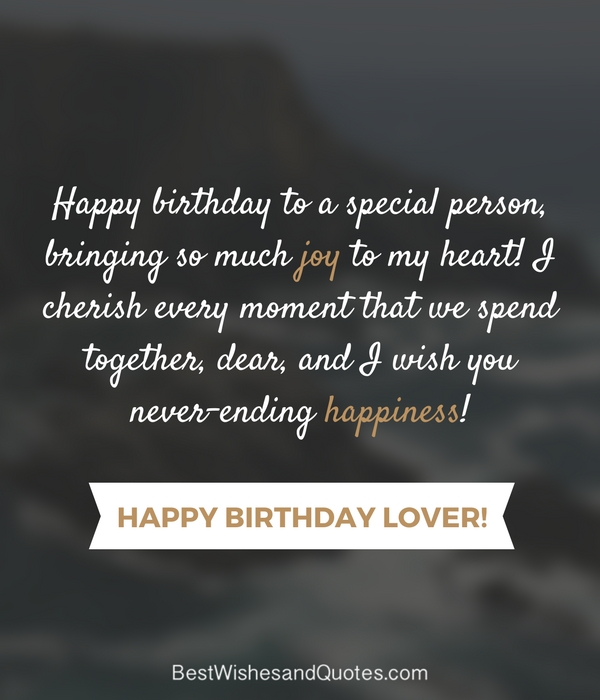 Birthday Love Quotes Adorable Happy Birthday Lover 48 Romantic Quotes Just For Your True Love