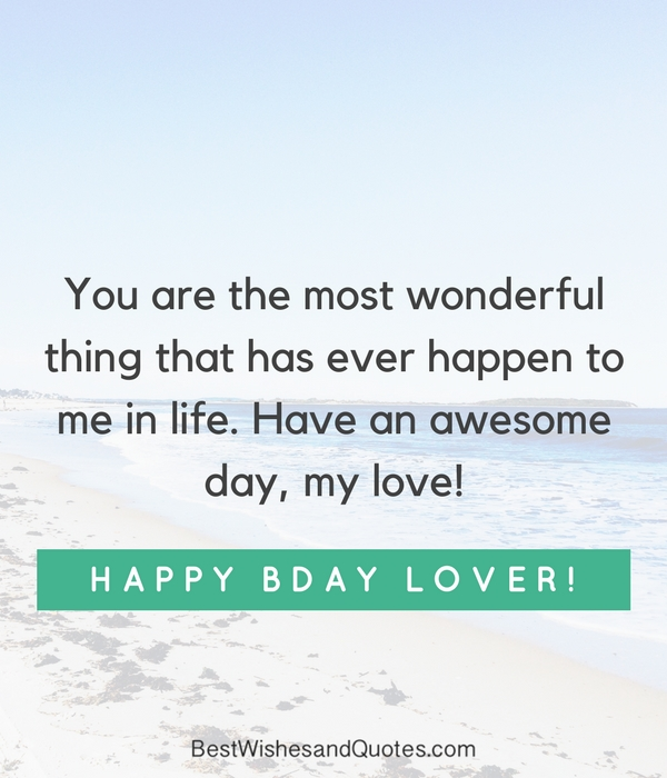 Happy Birthday Love Quotes New Happy Birthday Lover 48 Romantic Quotes Just For Your True Love