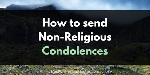 non religious condolences