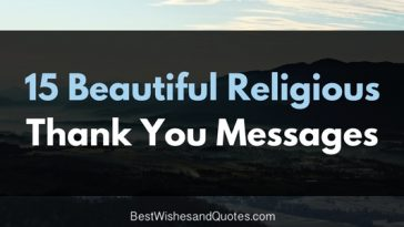 15 religious thank you messages