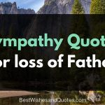 sympathy quote for loss of father