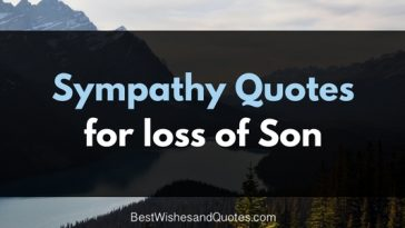 quote for loss of son