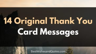 14 unique thank you card messages
