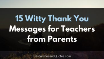 15 thank you messages for teachers