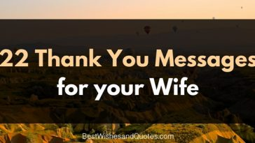 22 thank you messages for your wife