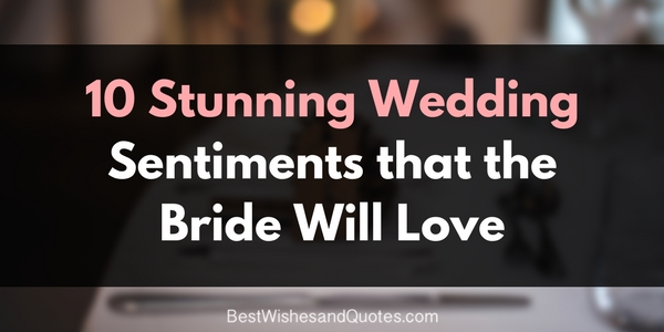 wedding sentiment for the bride