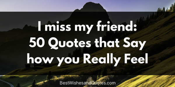 I Miss You My Friend 50 Most Endearing Quotes