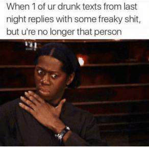 What happened last night texts